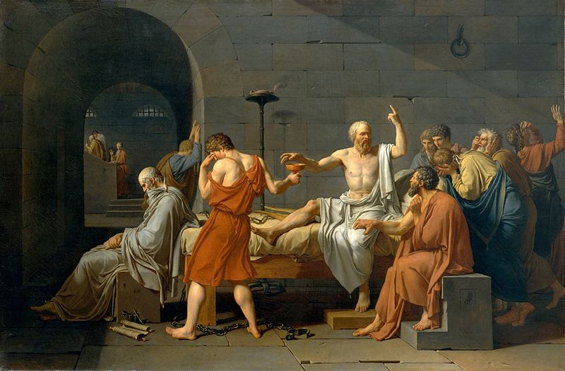 The Death of Socrates, by Jacques-Louis David (1787)